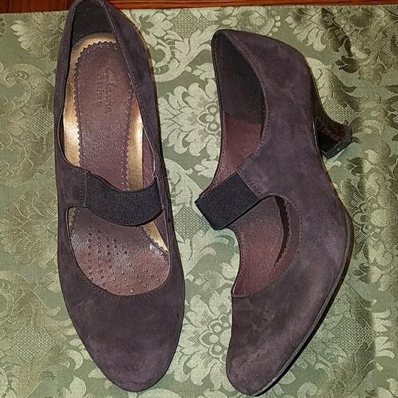 d73bd54fa Clarks Shoes - Clarks Artisan Suede Kitten Heels